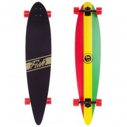 Лонгборд круизер Fish Skateboard  Tricolor