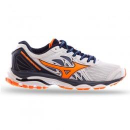 Кроссовки Mizuno белые с оранжевым