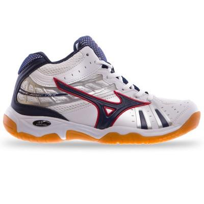 Кроссовки Mizuno белые с красным