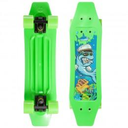 Пенни борд Fish Skateboards Duckbill Shark Зеленый