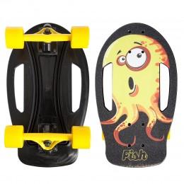 Пенни борд Fish Skateboards Nemo Желтый