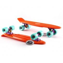 Пенни борд Fish Skateboards  Orange-Mint