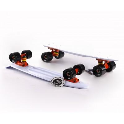 Пенни борд Fish Skateboards White-Black