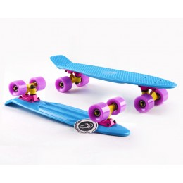 Пенни борд Fish Skateboards  Turquoise-Lilac