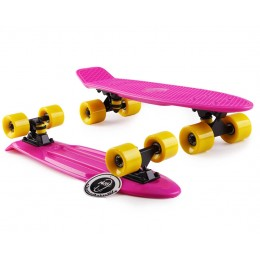 Пенни борд Fish Skateboards Pink-Yellow