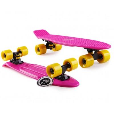 Пенни борд Fish Skateboards Pink-Yellow