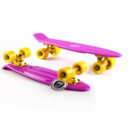 Пенни борд Fish Skateboards Violet-Yellow
