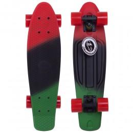 Пенни борд Fish Skateboards Red-Black-Green (матовое покрытие)