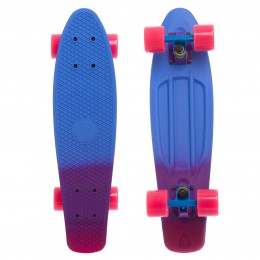 Пенни борд Fish Skateboards Blue-Violet-Pink (матовое покрытие)