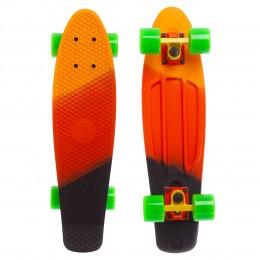 Пенни борд Fish Skateboards Orange-Red-Black (матовое покрытие)