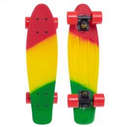 Пенни борд Fish Skateboards Red-Yellow-Green (матовое покрытие)