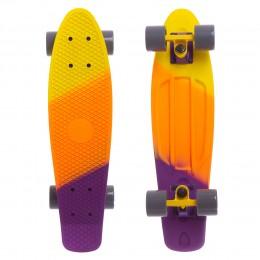 Пенни борд Fish Skateboards Yellow-Orange-Violet (матовое покрытие)