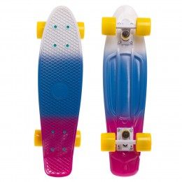 Пенни борд Fish Skateboards Градиент White-Blue-Violet