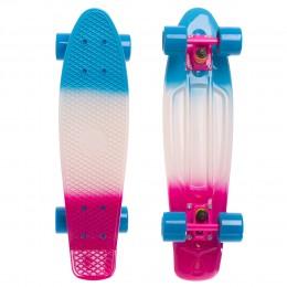 Пенни борд Fish Skateboards Градиент Blue-White-Violet