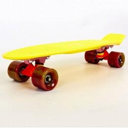 Пенни борд Fish Skateboards Swirl Yellow