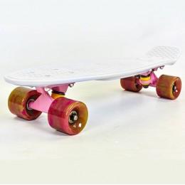 Пенни борд Fish Skateboards Swirl White