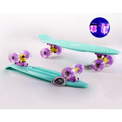Пенни борд Fish Skateboards Mint (светящиеся колеса)