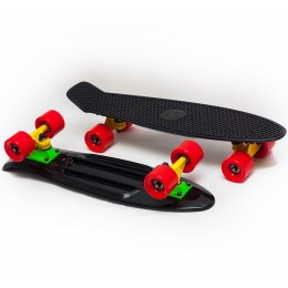 Пенни борд Fish Skateboards Black-Red