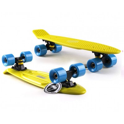 Пенни борд Fish Skateboards Yellow-Blue