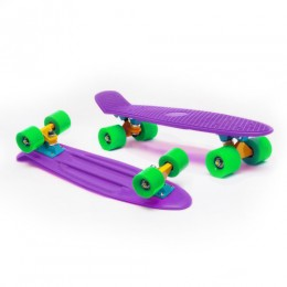 Пенни борд Fish Skateboards Violet-Green