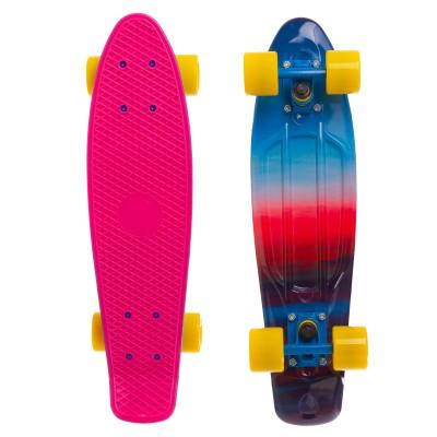 Пенни борд Fish Skateboards Sunset-Pink