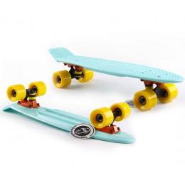 Пенни борд Fish Skateboards  Mint-Yellow