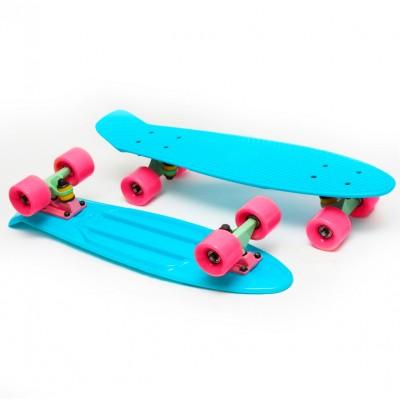 Пенни борд Fish Skateboards Turquoise-Pink