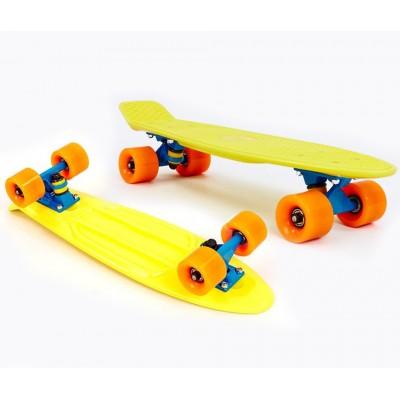 Пенни борд Fish Skateboards Yellow-Orange