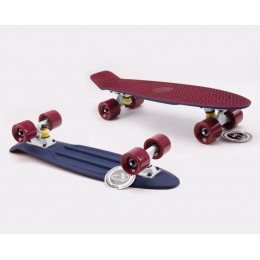 Пенни борд Fish Skateboards Twin Bordo-Blue (матовое покрытие)