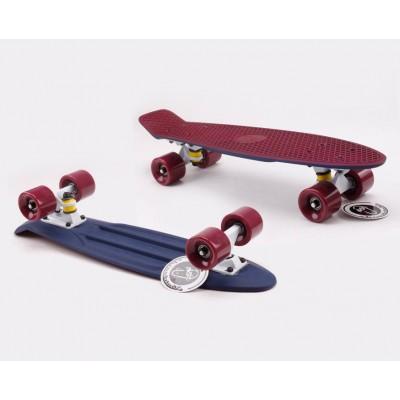 Пенни борд Fish SkateboardsTwin Bordo-Blue (матовое покрытие)
