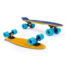 Пенни борд Fish Skateboards Twin Orange-Blue (матовое покрытие)